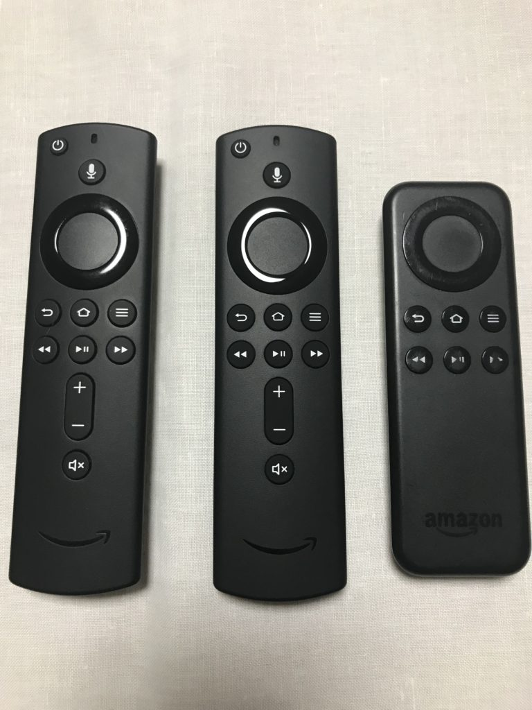 「旧Fire tv stick」と「新Fire tv stick&4K」のリモコンの違い