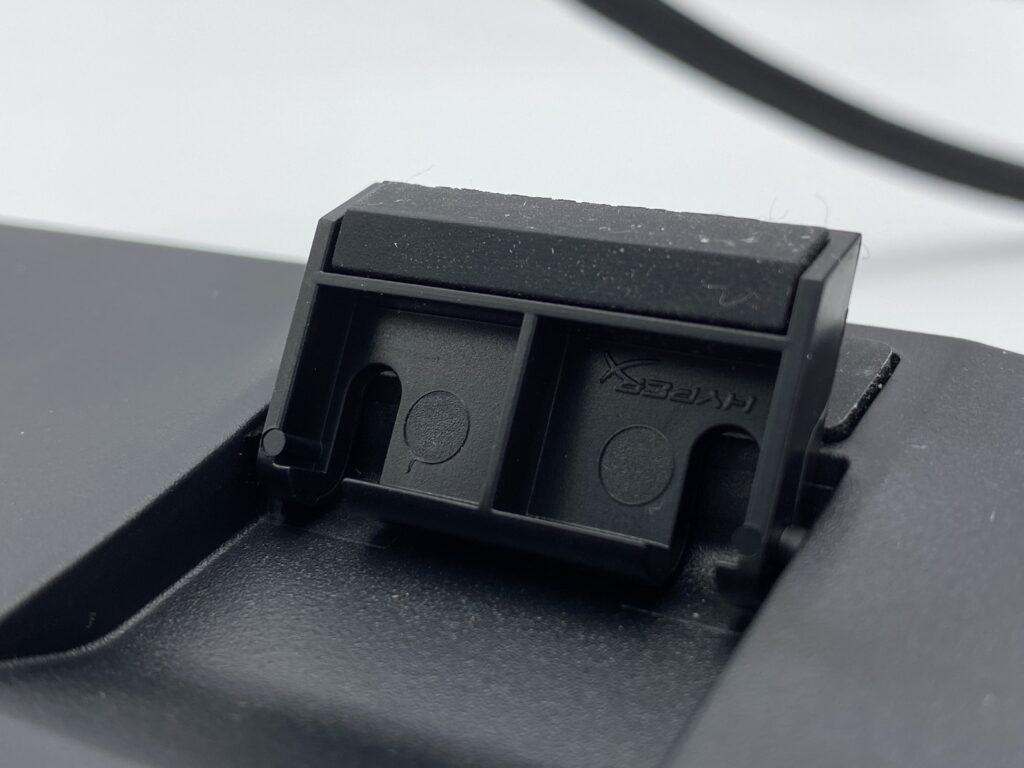 HyperX Alloy Elite 2 裏側ラバー部分(高さ調節用足裏)
